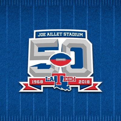 Joe Aillet Stadium 50th Anniversary Primary Logo