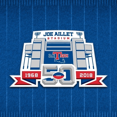 Joe Aillet Stadium 50th Anniversary Secondary Logo