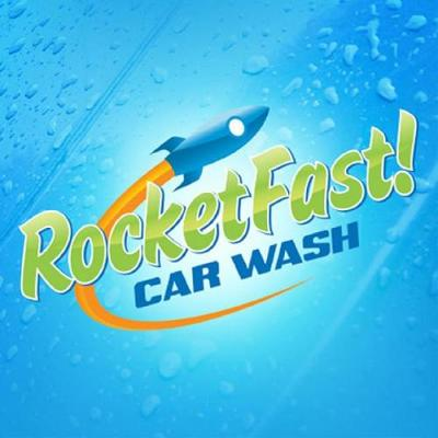 RocketFast Car Wash Logo