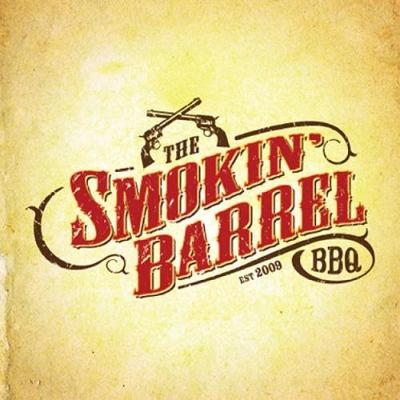 The Smokin' Barrel BBQ Logo