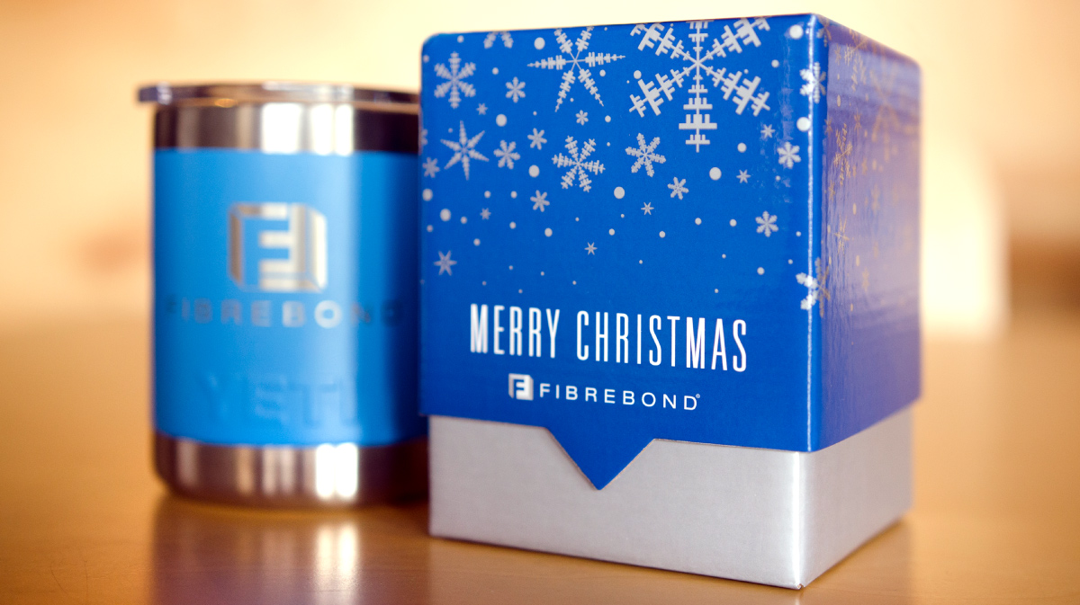 Fibrebond Christmas Tumbler & Box Photo