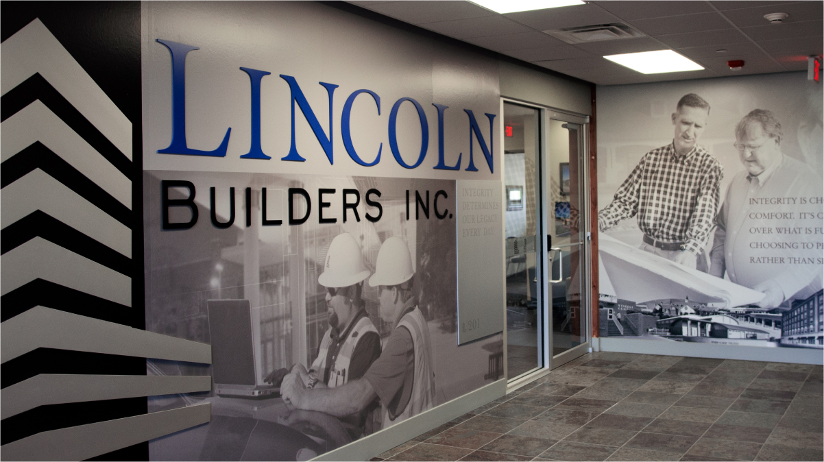Lincoln Builders Office Mural Photo