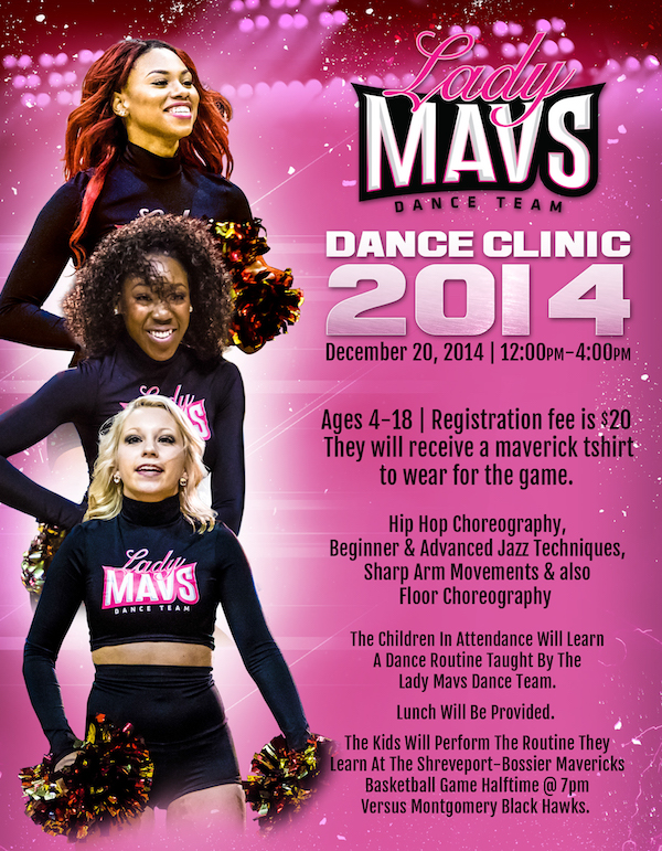 Lady Mavs Dance Clinic Flyer Image