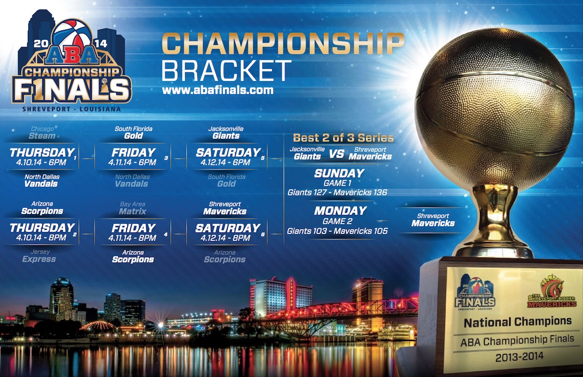 ABA Finals Bracket Image