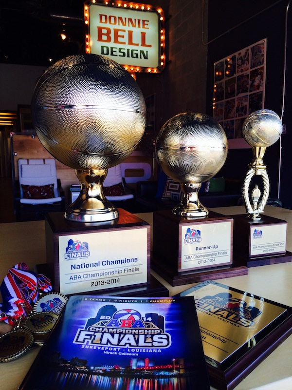 Mavs ABA Trophies and Programs Photo