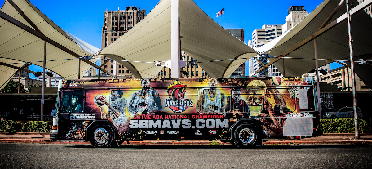 Mavs Bus Wrap Photo